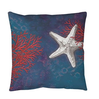 Thumbprintz Sea star Bay Starfish Throw or Floor Pillow