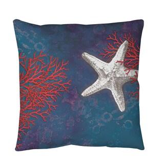 Sea star Bay Starfish Throw or Floor Pillow