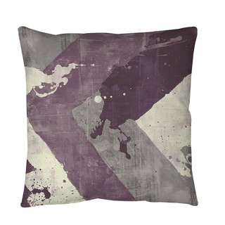 Thumbprintz Splatter No 1 Purple Throw or Floor Pillow