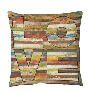 Striped Love Throw or Floor Pillow (3 options available)