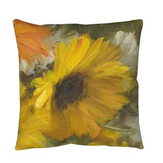 Thumbprintz Sunflowers Square II Throw or Floor Pillow