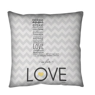 Thumbprintz L is for Love Throw or Floor Pillow