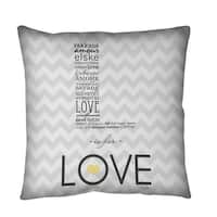 L is for Love Throw or Floor Pillow