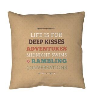 Thumbprintz Life is For Throw or Floor Pillow