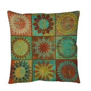 Medallion Grid Throw or Floor Pillow