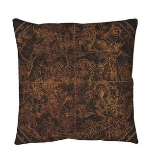 Northern Celestial Sphere Vintage Throw or Floor Pillow