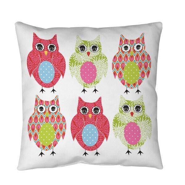 Owls Throw or Floor Pillow