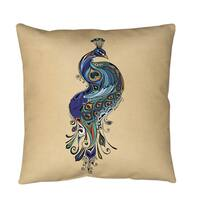 Peacock Throw or Floor Pillow