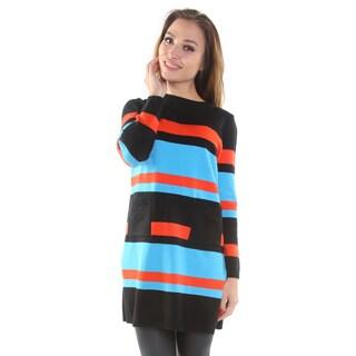 Hadari Women's Colorful Striped Pullover