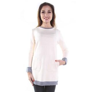 Hadari Women's Beige Colored Pullover