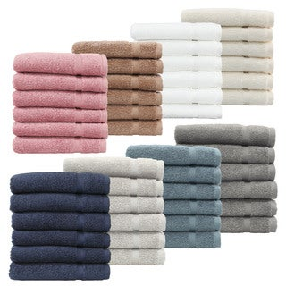 Authentic Hotel and Spa Omni Turkish Cotton Terry Washcloths (Set of 6) (5 options available)