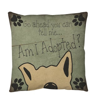 Am I Adopted Throw or Floor Pillow