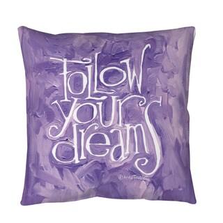 Thumbprintz Follow Your Dreams Throw or Floor Pillow