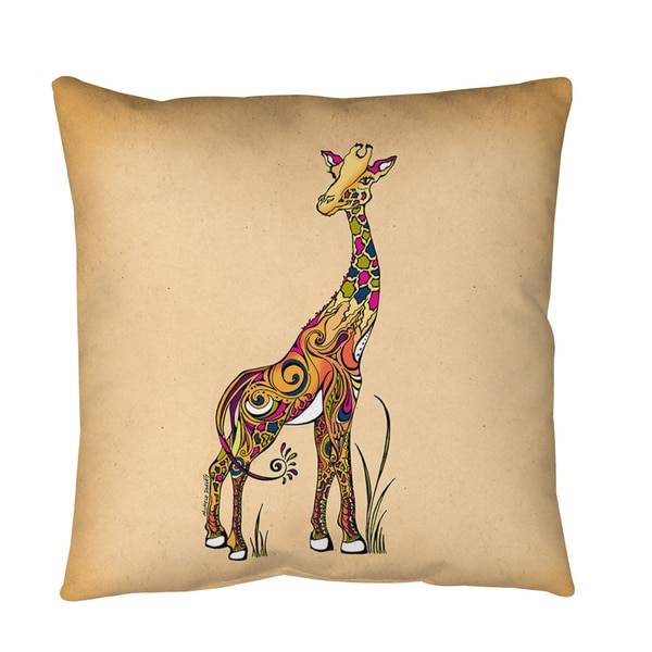 Giraffe Throw or Floor Pillow