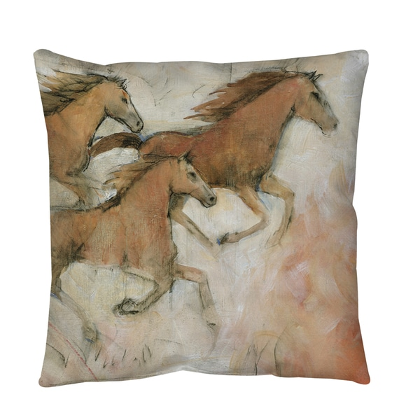 Horse Fresco 2 Throw or Floor Pillow
