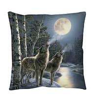 Howling Throw or Floor Pillow