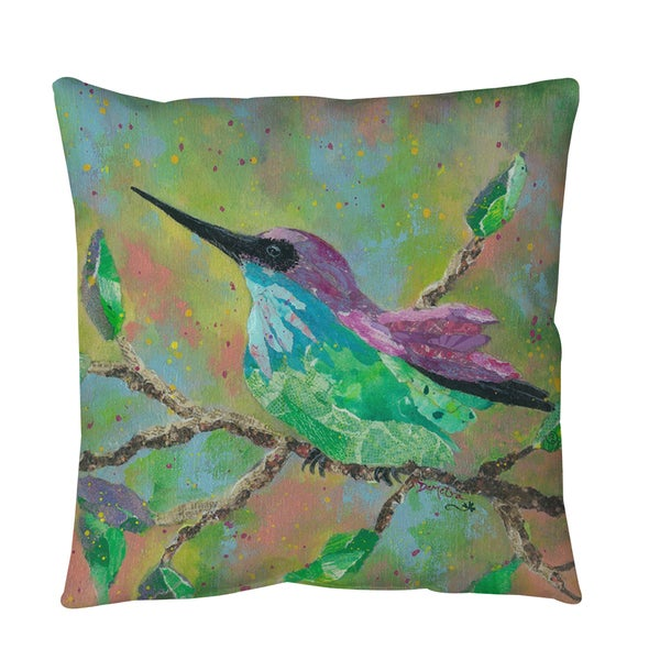 Hummingbird Throw or Floor Pillow