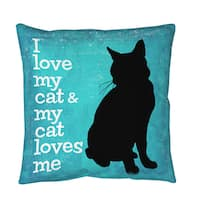 I Love My Cat Throw or Floor Pillow