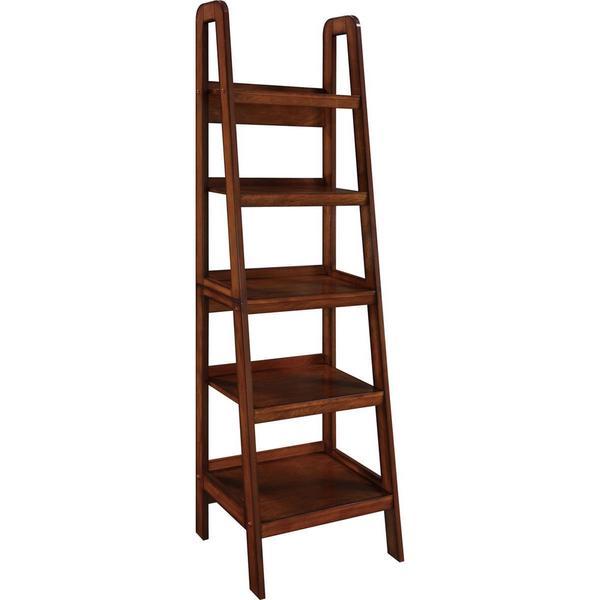 ameriwood home platform mahogany ladder bookcase free shipping today