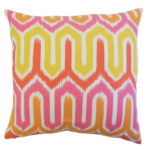 Safara Outdoor Down and feather Filled 18-inch Throw Pillow