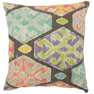 Radko Ikat Down and feather Filled 18-inch Throw Pillow