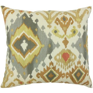 Qortni Ikat Down and feather Filled 18-inch Throw Pillow