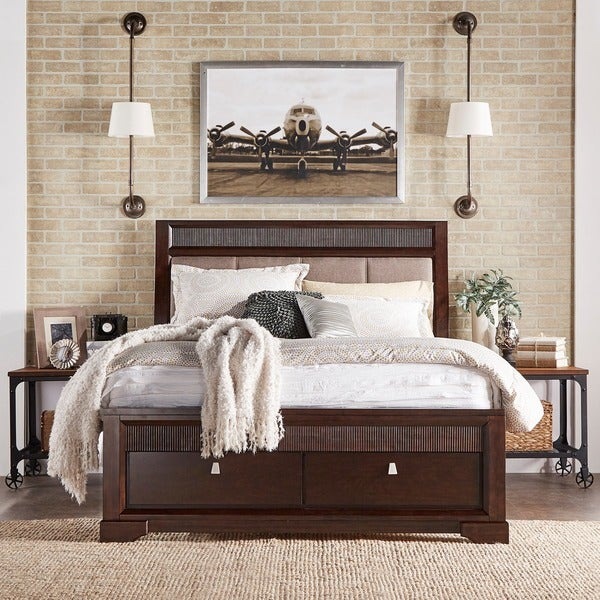 Wonderful Marquette Tufted Upholstered Headboard Storage Platform Bed By INSPIRE Q  Classic