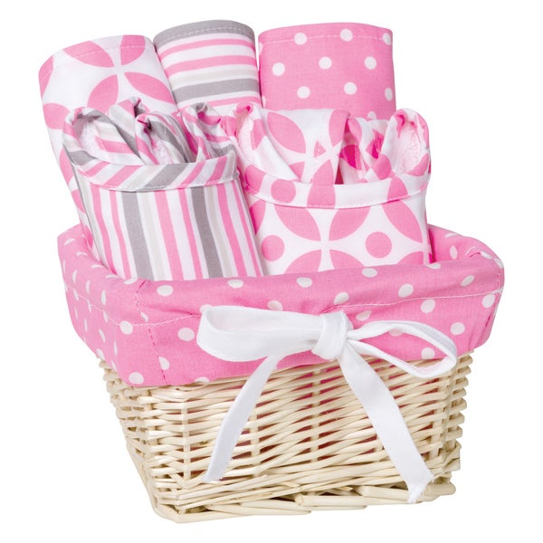 Trend Lab Lily 7-piece Feeding Basket Gift Set. Opens flyout.