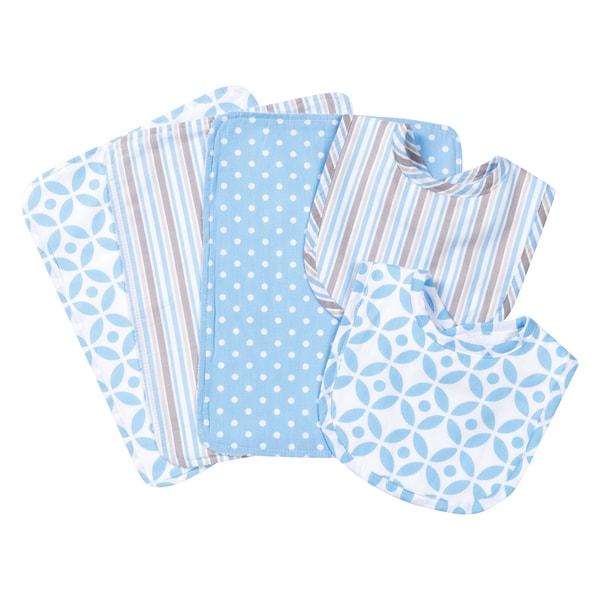 7 Piece Newborn Bibs Burpcloths Blankets Washcloths Baby Feeding Basket Gift Set