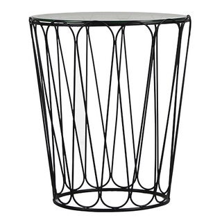 Adeco Home Black Garden Accent Metal End Table