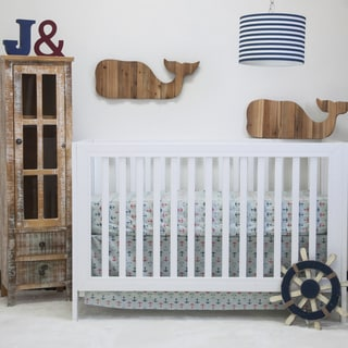 Pam Grace Creations Nautical Basics 2-piece Crib Bedding Set