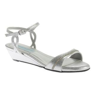 Women's Dyeables Mallory Wedge Silver Shimmer