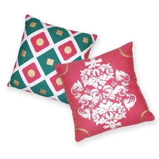 Eclectic Diamond Cotton Decorative 18-inch Throw Pillows (Set of 2)