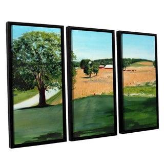 ArtWall Sylvia Shirilla's Western Pennsylvania Farm, 3 Piece Floater Framed Canvas Set