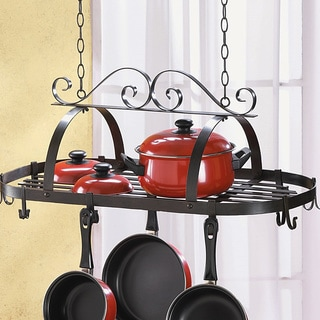 Scrollwork Hanging Pot Rack