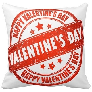 Happy Valentine's Day 16-inch Throw Pillow