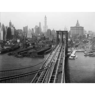 Selections by Chaumont Glass Art NYC Brooklyn Bridge Retro