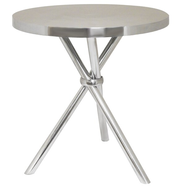 Amazing Smith Oval Aluminum Accent Table