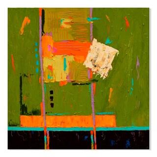Gallery Direct #13 Green Print on Birchwood Wall Art