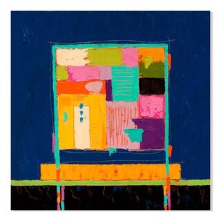 Gallery Direct High Def Blue Print on Birchwood Wall Art