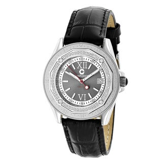 Luxurman 1/2ct TDW Genuine Diamond Watch by Centorum Flacon