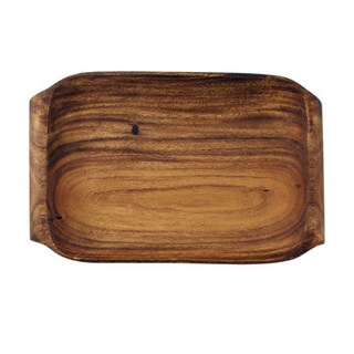 Pacific Merchants Wood Serving Tray with Handles