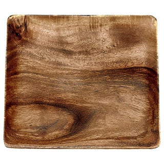 Pacific Merchants Acaciaware 7-Inch Acacia Wood Square Plate