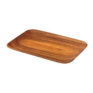 Pacific Merchants Acacia Wood Rectangle Serving Tray