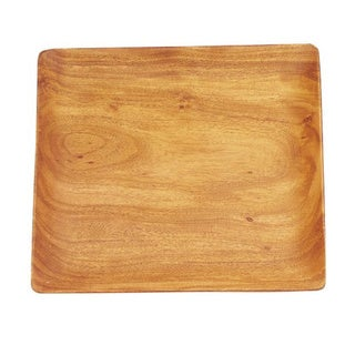 Pacific Merchants 12-Inch Acacia Wood Square Serving Tray