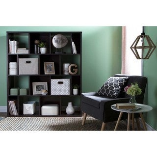 South Shore Reveal 16-Cube Shelving Unit with 2 Fabric Storage Baskets