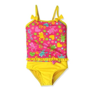Jump'N Splash Small Girls' Yellow Froggie Tankini