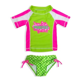 Jump'N Splash Small Girls' Little Princess Rash Guard Set