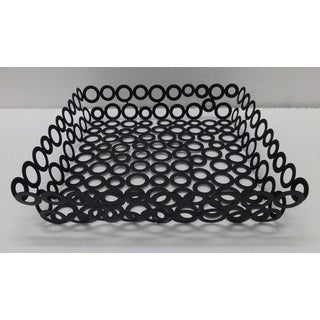 Vanilla Rings Square Basket 11.5 X 2.5