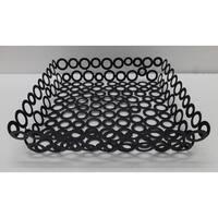 Vanilla Rings Square Basket 11.5 X 2.5